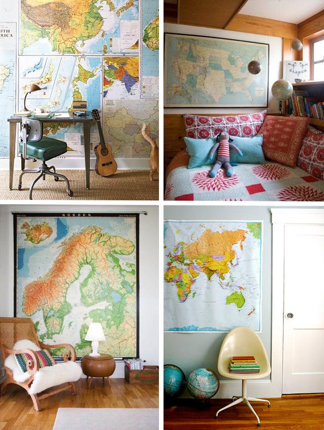 Mapa na parede para decorar 6