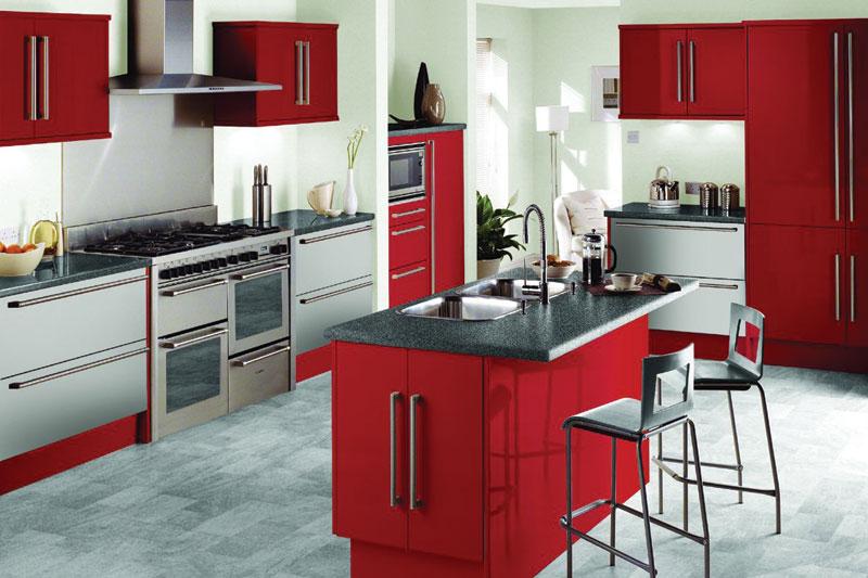 Cozinhas coloridas e estampadas 15