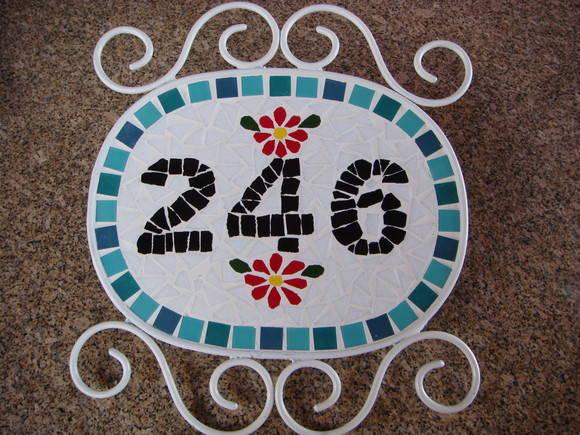 Número para casa em mosaico 2