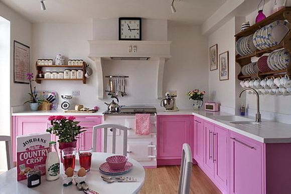 Cozinhas coloridas e estampadas 7