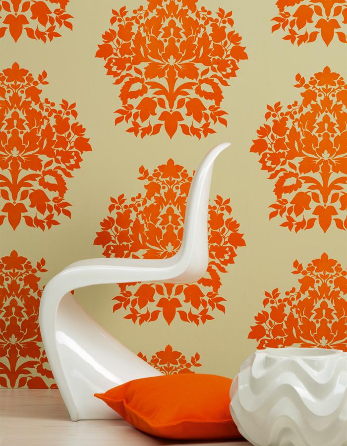 cor Tangerine na decoração 5