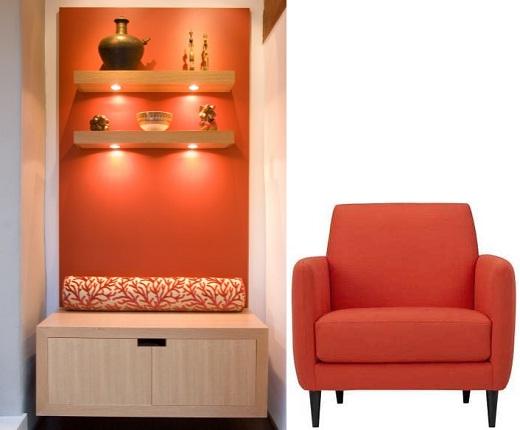 cor Tangerine na decoração 6