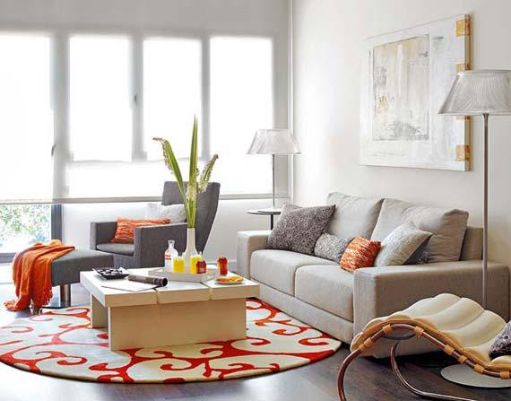 cor Tangerine na decoração 8