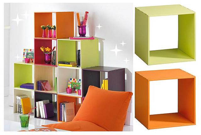 Cubos coloridos na decoração 7