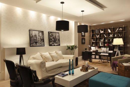 Home office na sala de estar 4