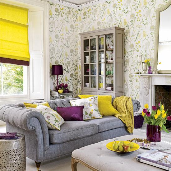 Amarelo e roxo na decoração 5
