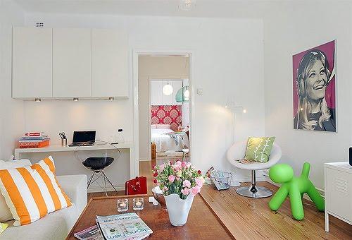 Apartamentos pequenos decorados 4