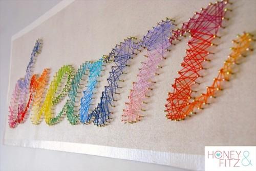 Decoração com fios de lã 4