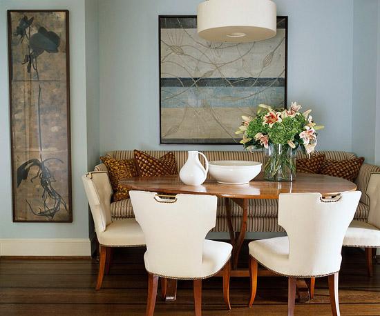Sala de jantar com banco 7