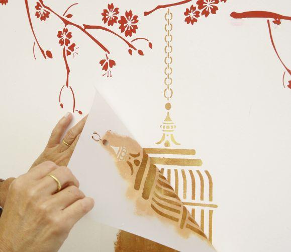 Estêncil na decoração 8