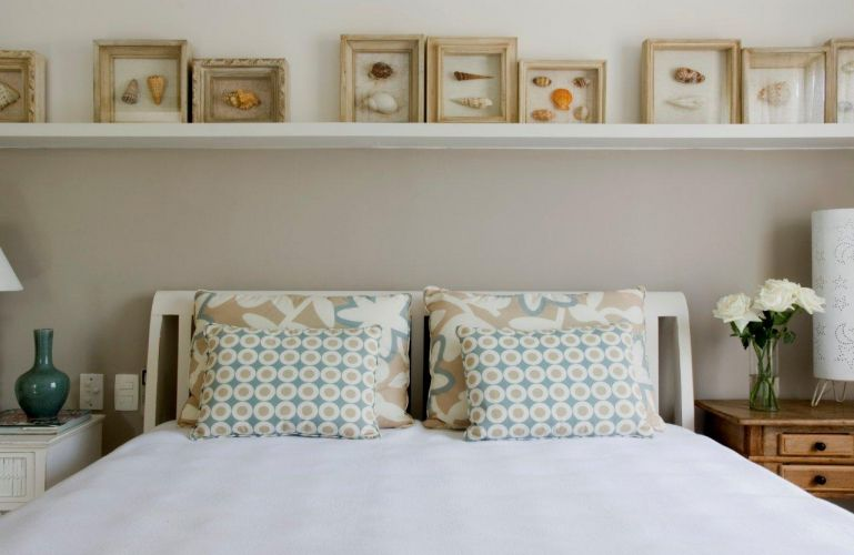 cama decorada e aconchegante