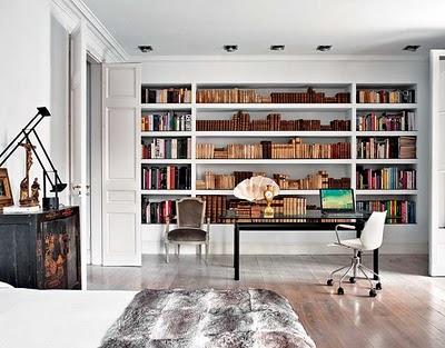 Decorar biblioteca em casa 5