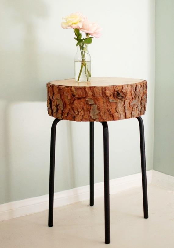 troncos de madeira na decoração 8