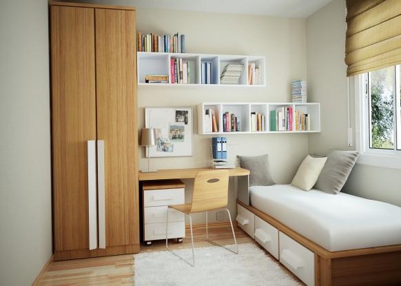 organização para quartos pequenos 9