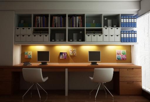 Sala de estudos decorada 9