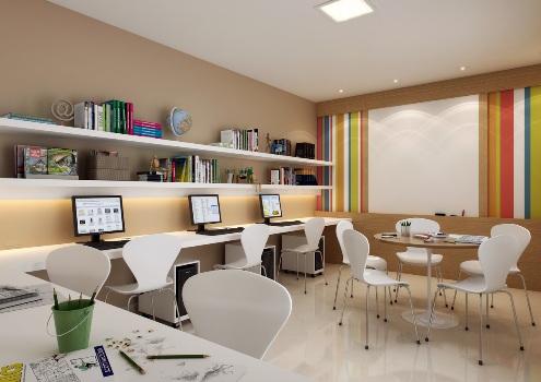 Sala de estudos decorada 5