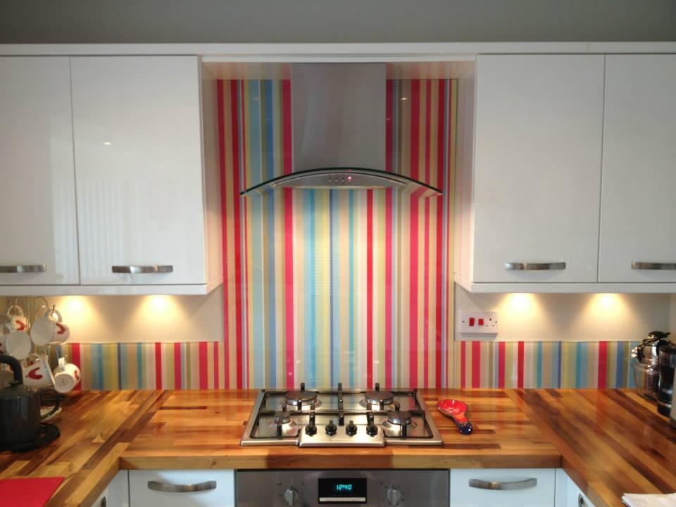 Vidro Splashback na cozinha 2
