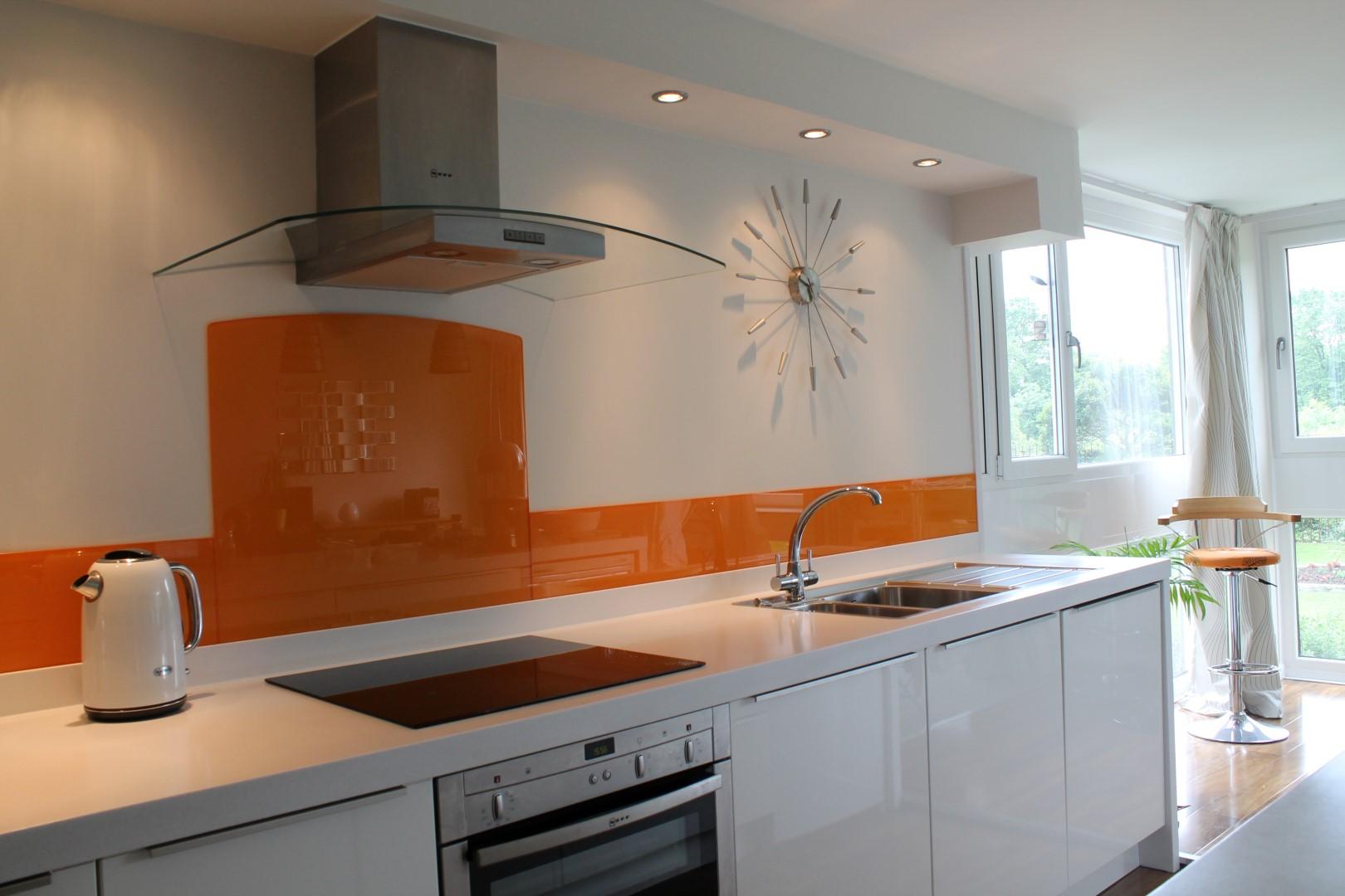 Vidro Splashback na cozinha 3