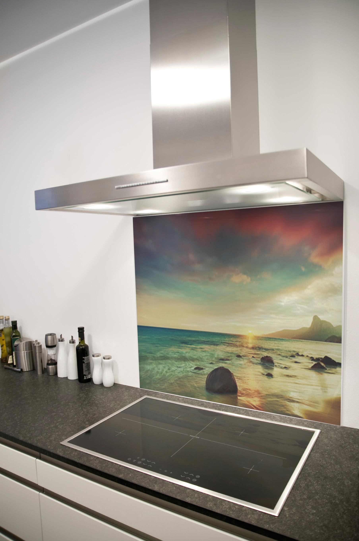 Vidro Splashback na cozinha 6