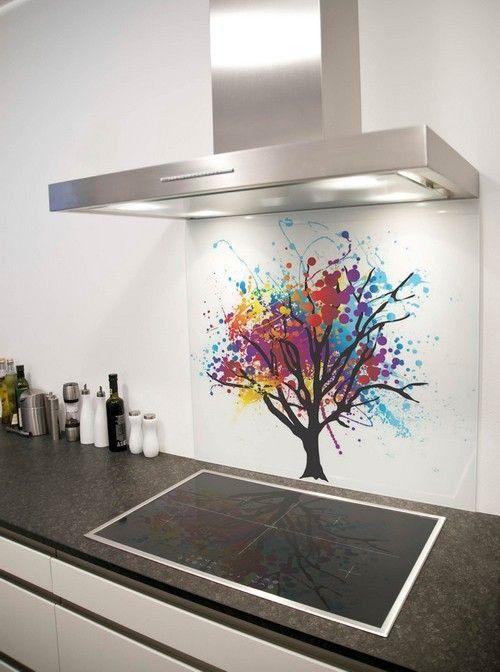 Vidro Splashback na cozinha 7