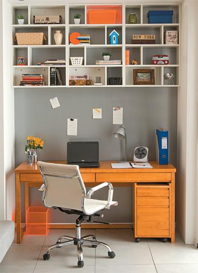 Home office na sala 3