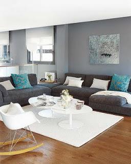 Decoração em cinza, azul e branco 2