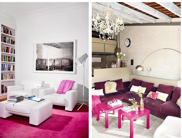 Pink na decoração 5