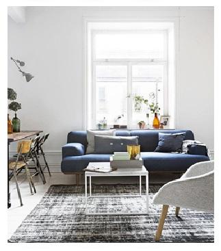 Decoração em cinza, azul e branco 7