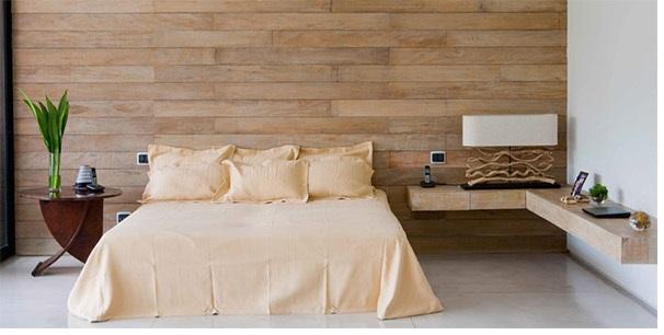 Painel de madeira na decoração 1
