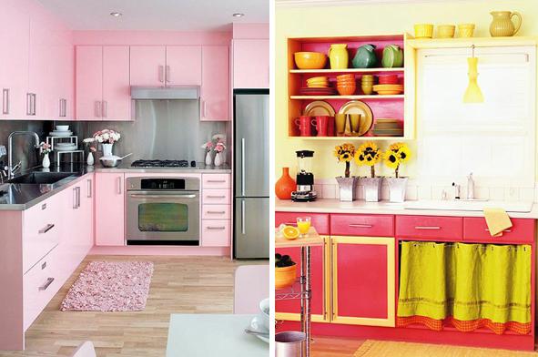 Armários coloridos na cozinha 5