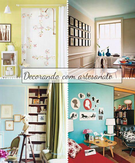 decoração com artesanato