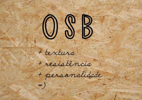 OSB na decoração