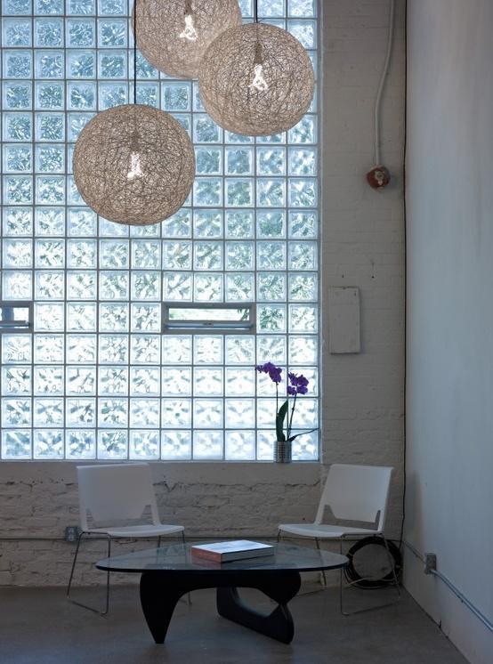 Tijolos de vidro na decoração