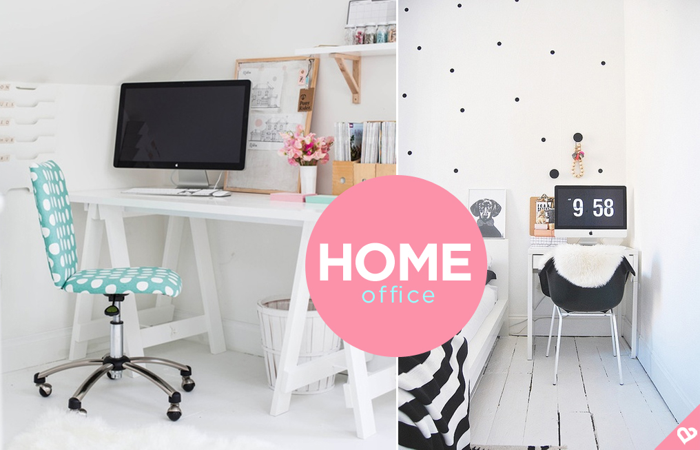 Home office colorido