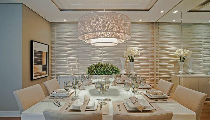 Mesa de jantar na decoração da sala ou da cozinha