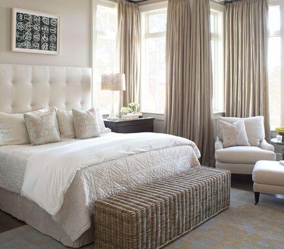 Bedroom Curtains Calming Bedroom Colors Sherwin Williams Bedroom Design Ideas White Interior Design Drawings Perspective Bedroom: Dicas E Inspirações Para Imitar